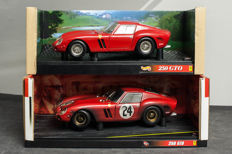 Hot Wheels - Scale 1:18 - Ferrari 250 GTO Raced (Dirty) version & 1962 Ferrari 250 GTO