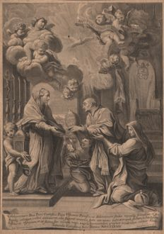 Gimignani Lodovico (1643/1697) - The renunciation of Celestine V to the pontificate - 1683