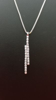 Necklace with diamonds totalling 0.48 ct (Colour: J – Clarity: VS1). 18 kt gold. 'No reserve price'.