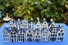 15 vintage KLM houses (Rynbende) from the sixties + old booklet belonging to house No. 35