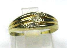 0.03 ct W/SI diamond ring solid 14 kt/585 yellow gold 53/16.8 mm