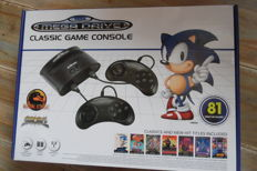 Sega Mega Drive Classic game console whit 2 controllers  built in 81 games