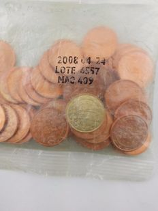 Portugal – 2 cents 2008 in 10 cents cachet – Sealed in distribution bag