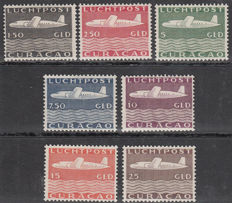 Curaçao 1947 - air mail plane - NVPH LP82/LP88.