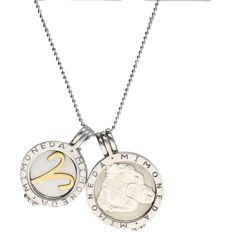Mimoneda - 925/1000 Silver sphere necklace with 2 pendants by the brand Mimoneda. - length x width: 90 x 0.1 cm