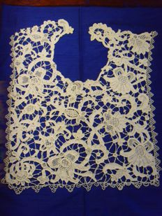 Big insert piece - Needle lace - 1850-1900 - France