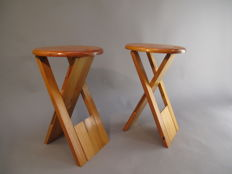 Adrian Reed for Princes Design Works - set of two stools, type 'Suzy'
