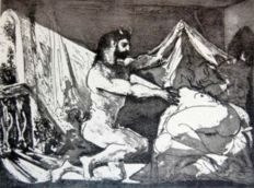 Pablo Picasso (after) - Fauno destapando a una mujer. Suite Vollard