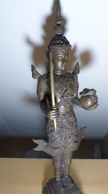 Temple Guard Bronze/brass - Thailand - late 20th century (40 cm)
