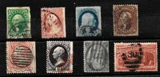 USA 1851/1898 - selection of eight items, between Michel 5/82