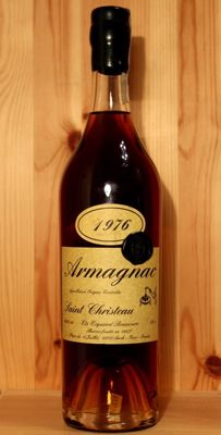 1976 Saint Christeau Armagnac, bottled 2006, 30 years old - 0,7cl, 40,6%vol.