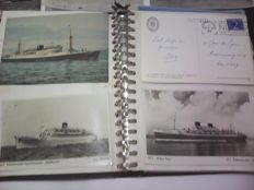 Several countries - decades of 1960 and 1970 - 38 ship postcards and 21 aeroplanes postcards
