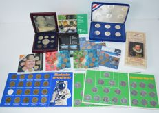 The Netherlands - Lot of various year packs and coins (13 pieces)