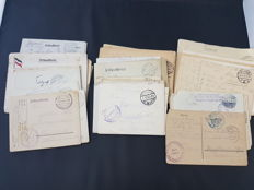 Germany - WW1 batch 80+ military soldiers letter post cards feldpost 2...