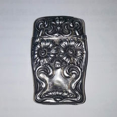 Elegant  Art Nouveau Sterling Solid Silver Match Safe / Vesta Case