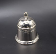 Solid  silver pot with lid  , International hallmarked 800