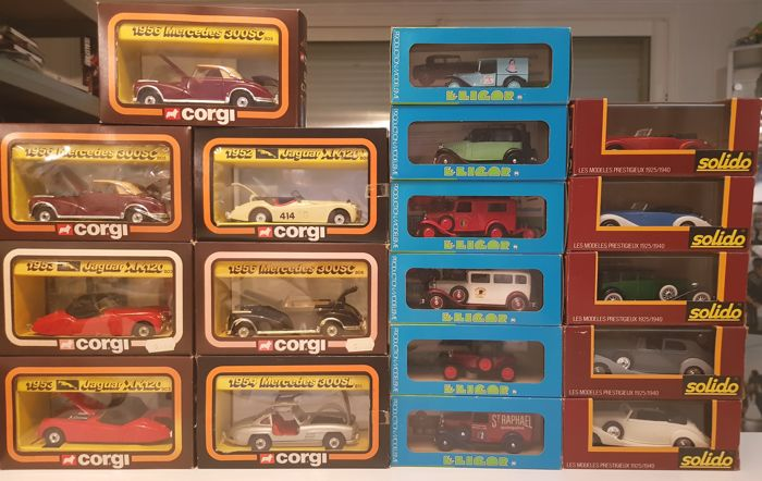 Corgi / Eligor / Solido - Scale 1/43 - Lot of 18 vehicles: 7 x Corgi, 6 x Eligor & 5 Solido