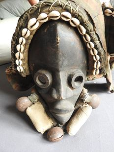 Ivory Coast mask with hood - Africa