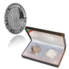 Portugal Republic – 2 Copies – 100 Escudos 1985 – Fernando Pessoa – Silver & Nickle