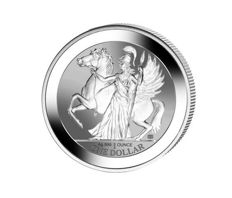 British Virgin - 1 dollar - Pegasus - Goddess Athena 2017 - Reserve proof