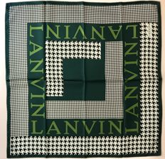 Lanvin - Green scarf with houndstooth design