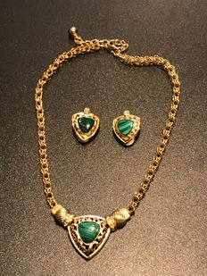Very Rare Stunning Jacqueline bouvier Kennedy First Lady USA 1961-63 necklace and earrings