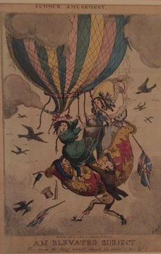 5 satirical prints - English school - 19th/20th century