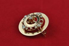 Antique Pearl & 18k Yellow Gold Decorative Brooch **LOW RESERVE + FAST SHIPPING**