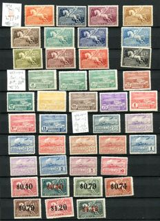 Uruguay 1924/1964 - collection with excellent AIR stamps on six stock sheets.