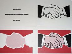 Roy Lichtenstein - Handshake Mailer - Multiple