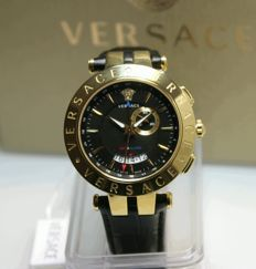Versace V-Race Dual Time Alarm men's watch, never worn