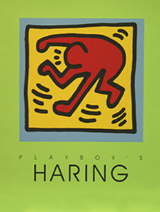 Keith Haring - Playboy Green edition - 1991