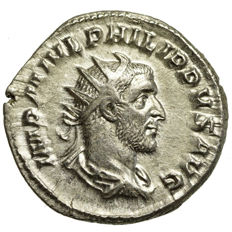 Roman Empire – Philippus I Arabs (244-249) AR Antoninian, Rome, ROMA