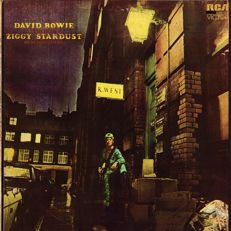 "David Bowie: ""The rise and fall of Ziggy Stardust and the Spiders from Mars"" 1972 or. UK lp + insert"