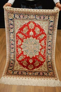 Turkish Hereke, silk, 136 x 91 cm