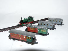 "Arnold N - 0261 - Tender locomotive T3 with 4 wagons ""Jahreszug 1993"" of the KPEV"