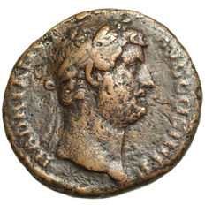 Roman Empire – HADRIAN (117-138) AE As, Rome, ANNONA