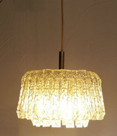 "Unknown designer - ceiling light - ice ""glass"" (Acrylic glass)"