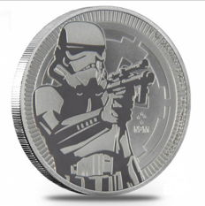 Niue - $2 - Star Wars - Storm Trooper - 1 oz of 999 silver - Silver coin - Edition of only 250,000 coins each