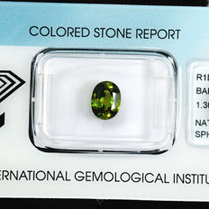 Colour changing sphene - 1.30 ct