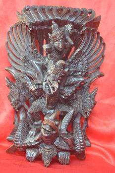 Garuda and rama/vishnu - Bali - indonesia - second half 20th century