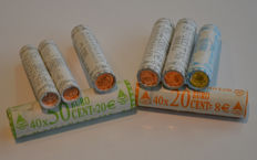 Finland - 1999/2003 1, 2, 10, 20 and 50 cent in coin rolls.