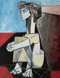 Pablo Picasso (after) - Femme assise