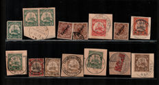 Germany - Collection of stamps on fragment, from the colonies