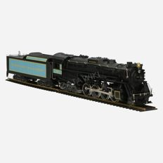 Rivarossi H0 - 1280 - Steam locomotive with tender - 2 -8-4 CI S3 Berkshire of American Railroads