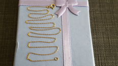 Women's 18 kt yellow gold necklace, length 40 cm
