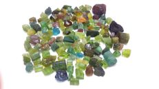Multicolor tourmaline crystals mix.  5-15 mm.  250 ct.