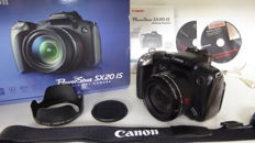 Canon PowerShot SX 20 with Canon USM 28-560 mm lens Super zoom camera