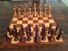 Wooden chess set, Spanish noblemen with board