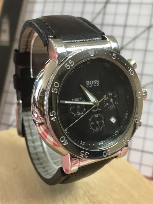 "Hugo Boss ""SPORTS Chronograph"" – men's wristwatch – 2016 -- used, in mint condition."